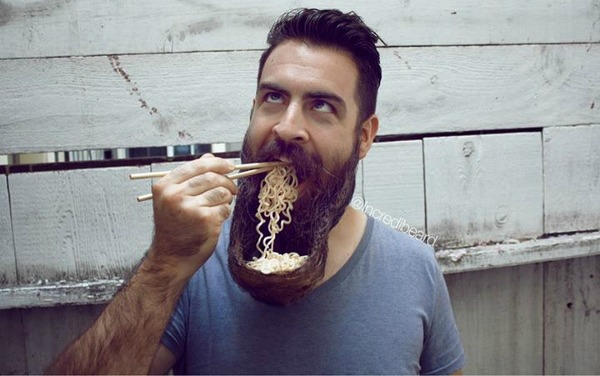 beard-ramen bowl-hair