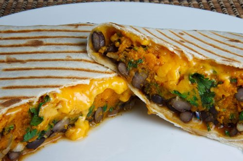 Pumpkin and Black Bean Burritos 500