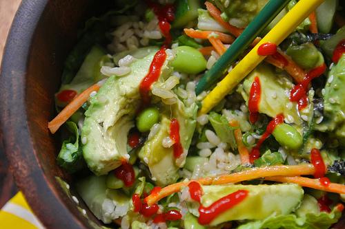 sushi roll salad