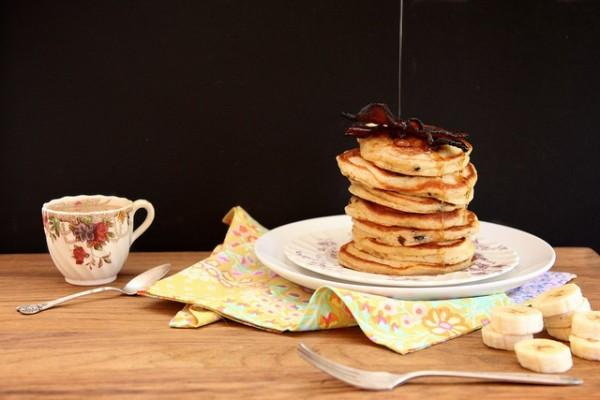 PB Bacon Pancakes