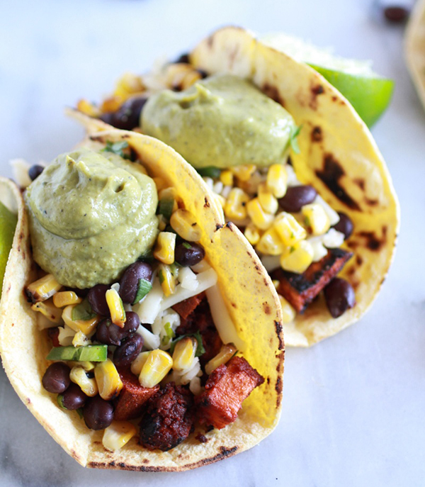 Sweet Potato and Chorizo tacos