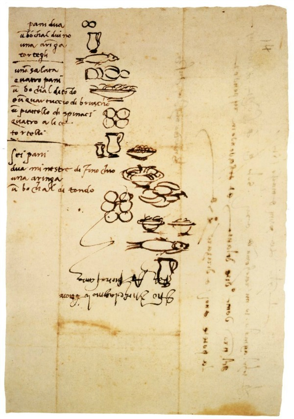 Michelangelo-grocery-list