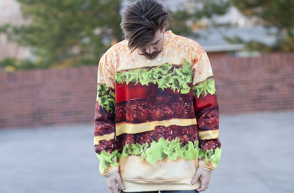 beloved crew sweatshirt cheeseburger