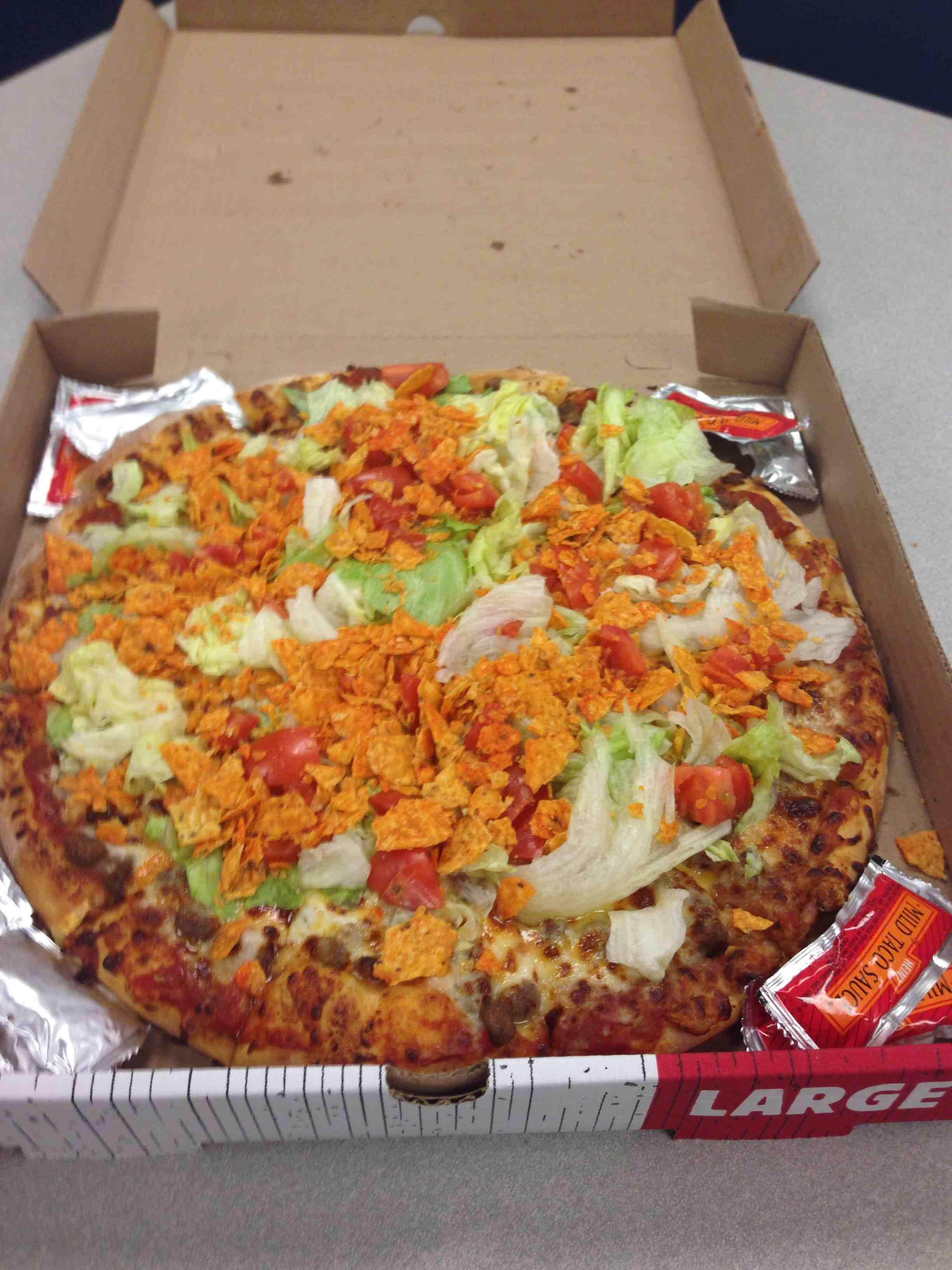 gas station taco pizza