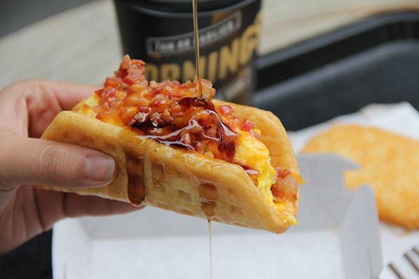 Waffle Bacon Taco