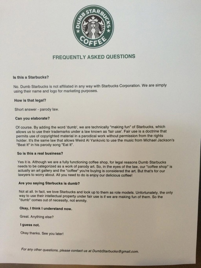 dumbstarbucks-faq