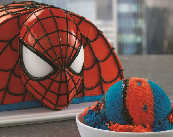 Baskin Robbins Red And Blue Spider Man Ice Cream With