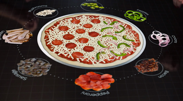 Pizza hut testing futuristic table that lets you customize for Table a pizza