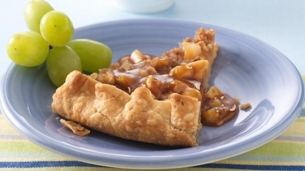 Pineapple Galette with Caramel Rum Sauce