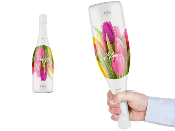 Flower Wine Bottle