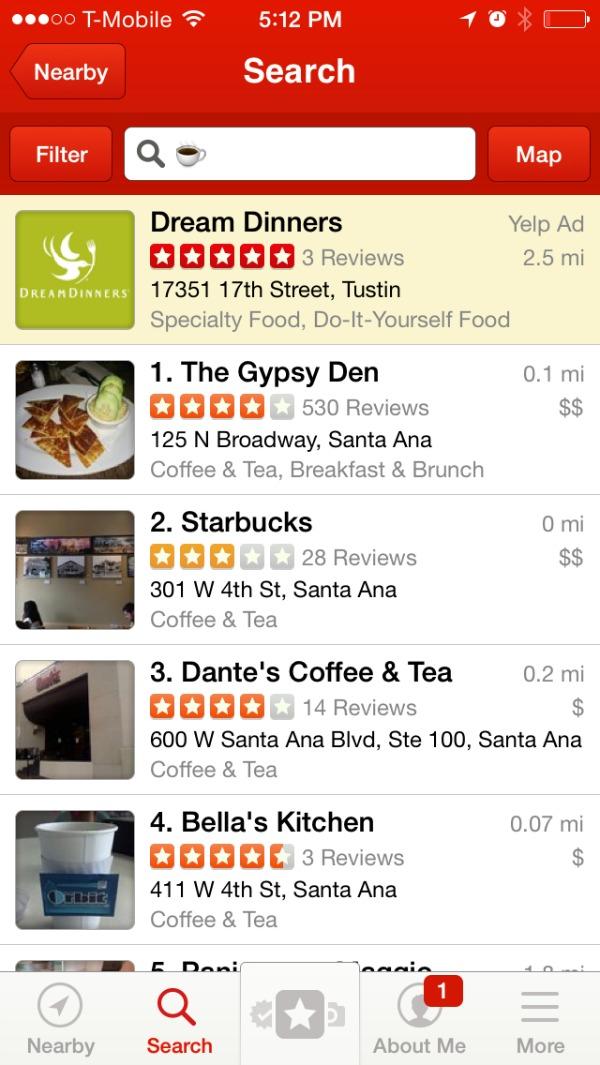 protip yelp lets  search  restaurants  emojis
