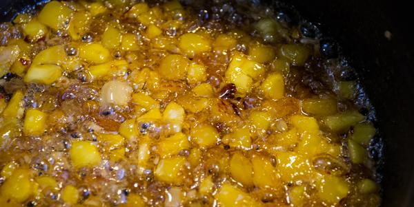 mango-chutney-delhi-dog-simmering