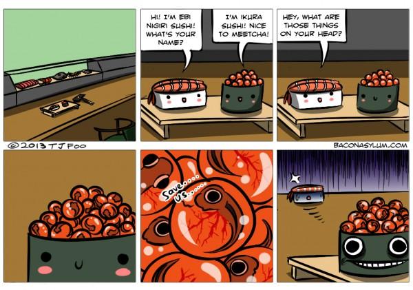salmon roe comic