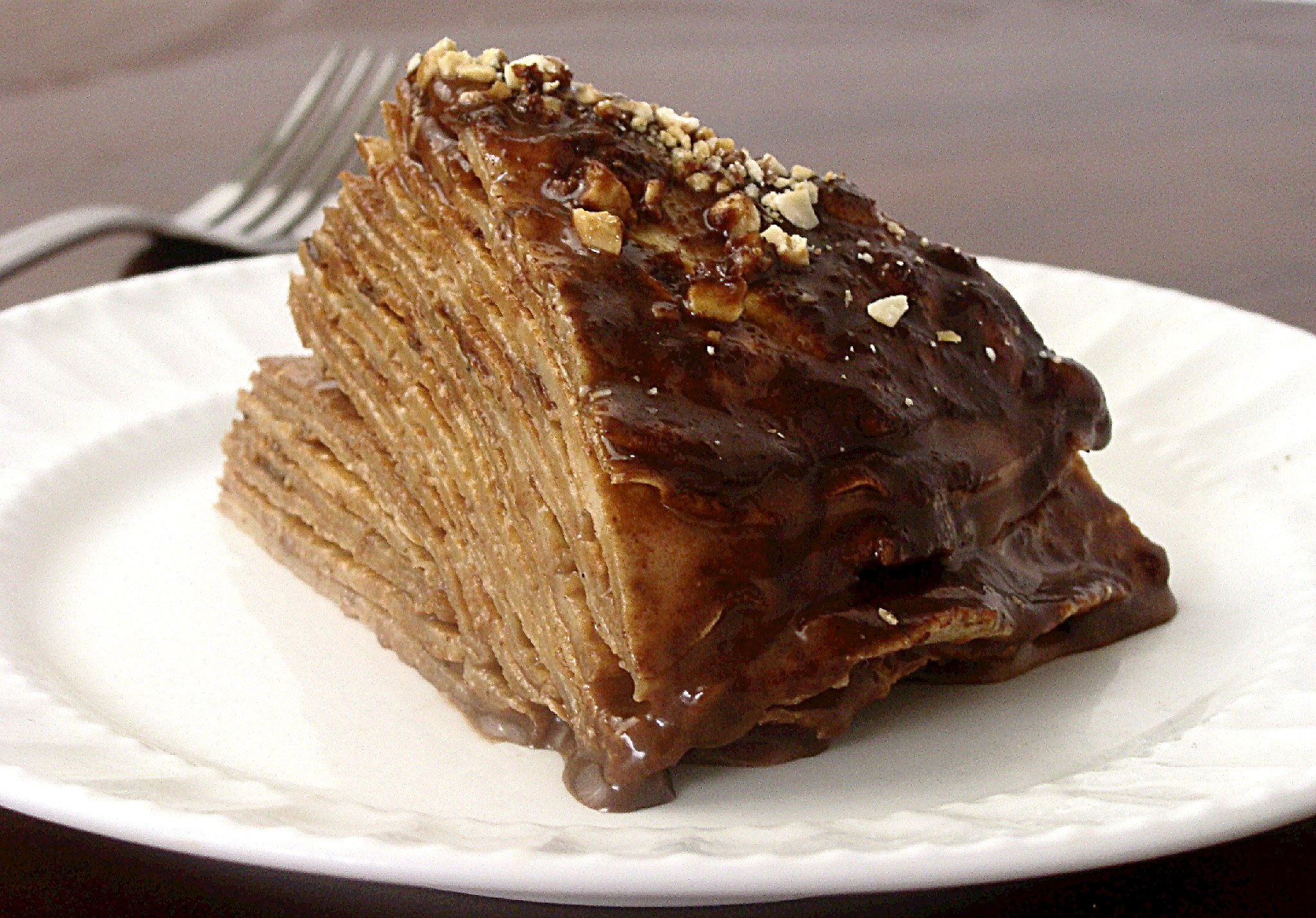 Banana nutella crepe cake recipe