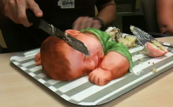 this realistic baby cake is both edible and disturbing