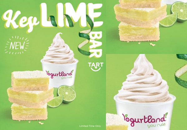 Yogurtland Reveals Their Latest Limited-Time Flavor: Key Lime Bar Tart