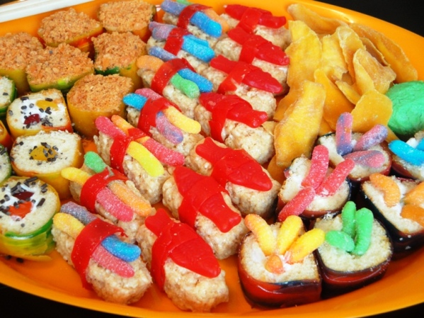 Twinkie and Rice Krispies Treat Sushi