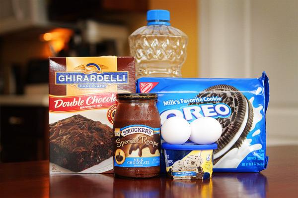 Cookies and Cream Oreo Fudge Brownies Ingredients
