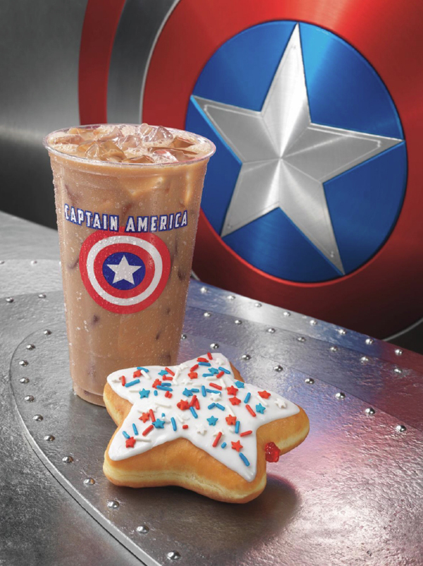 Dunkin Donuts Announces Captain America Themed Products