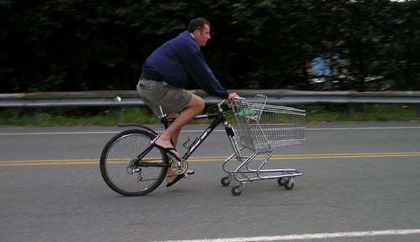 Cart Bike Don T Cycle To The Supermarket Without One