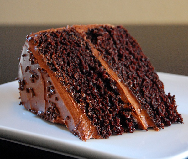 Rich and Luscious Double Dark Chocolate Cake