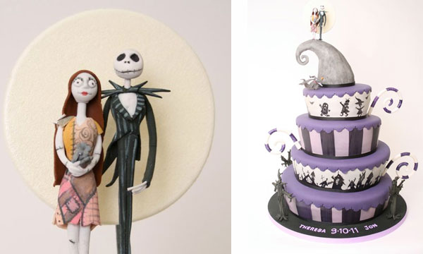 This quadlevel cake follows a familiar Nightmare color scheme with purples