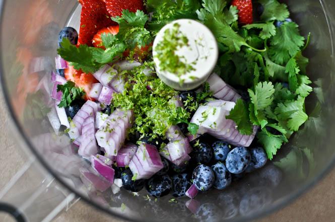 blueberry lime salsa processor