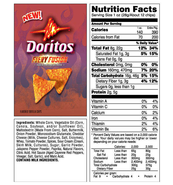 nacho cheese doritos nutrition facts quotes