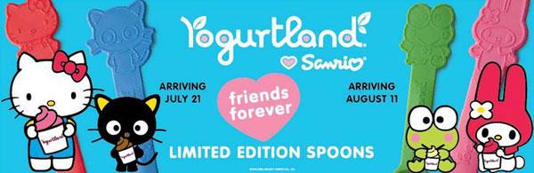 Yogurtland And Hello Kitty Spoons