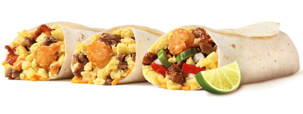 sonic drive in launches three new breakfast burritos