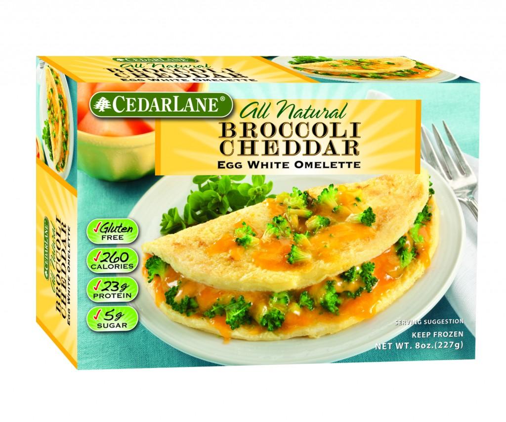 Cedar Lanes Broccoli Cheddar Egg White Omelette