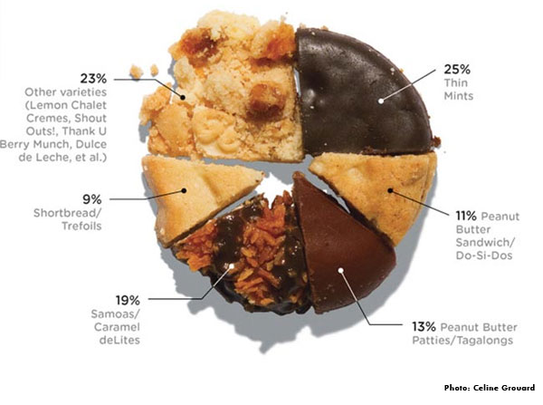 visualizing girl scout cookie sales with cookies