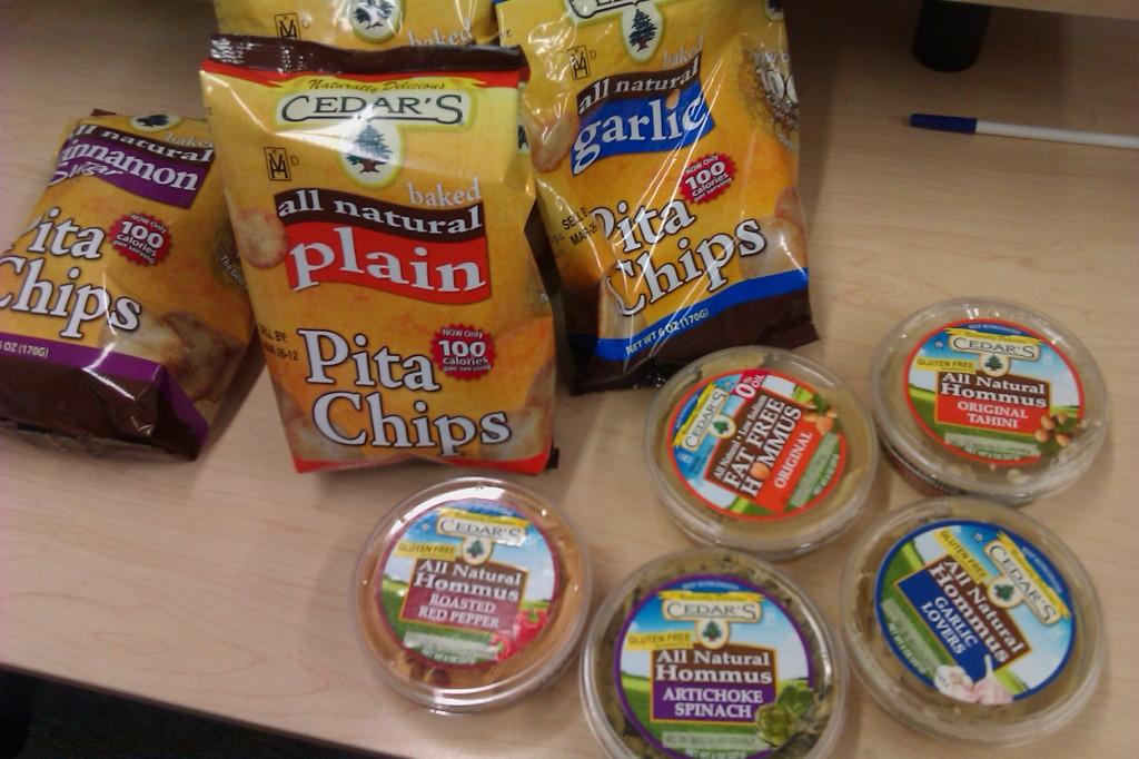 Cedar's Mediterranean Foods Pita Chips Hommus Hummus