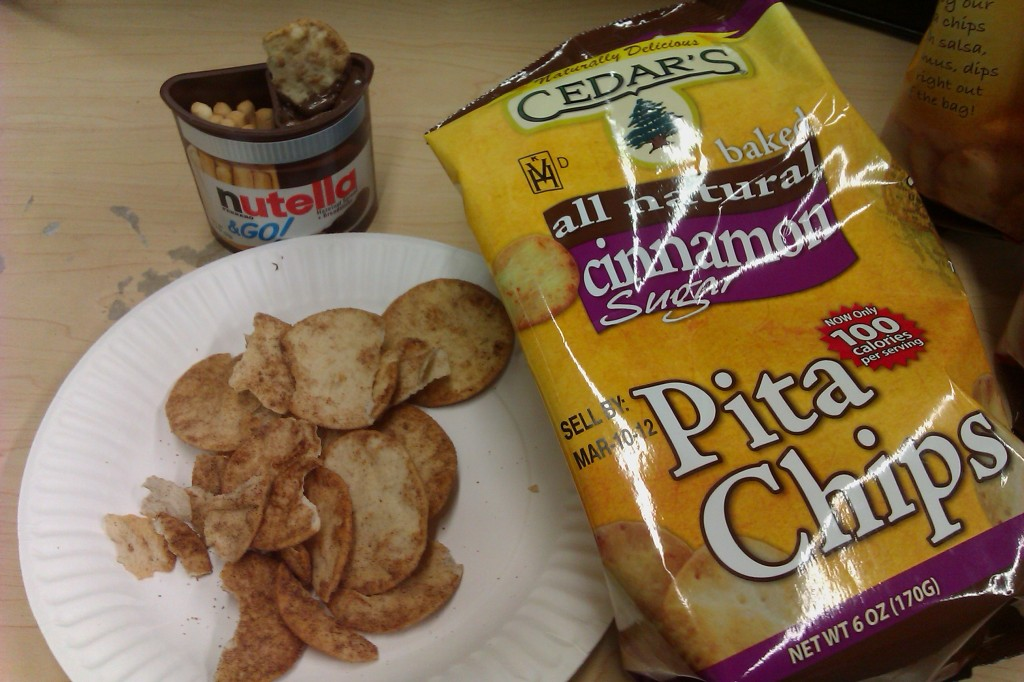 Cedar's Mediterranean Cinnamon Sugar Pita Chips with Nutella