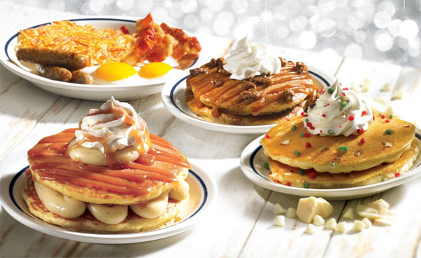 IHOP Releases Eggnog Pancakes & Three Other Holiday Hotcakes