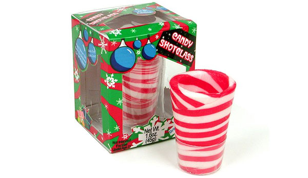 Edible Candy Cane Shot Glasses