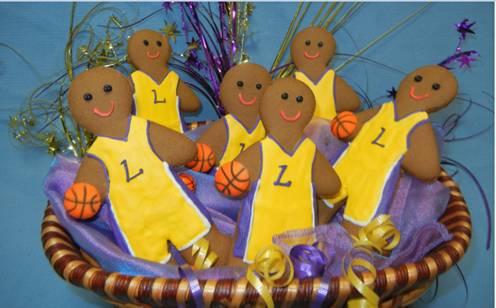 Lakers Gingerbread Cookie 2012 NBA Season Opener Chicago Bulls