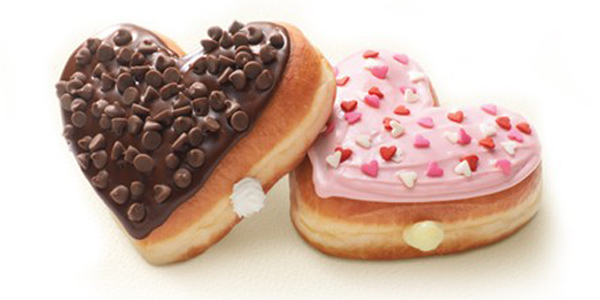 back for valentines day dunkin donuts is bringing back their deliciously cream filled heart shaped donuts from now until the end of february