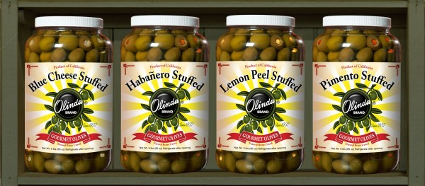 habañero lemon peel blue cheese pimento stuffed olive olives West Coast Products