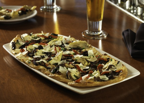 Flemings Bar la Carte Menu Cedar Roasted Mushroom Artichoke Flatbread
