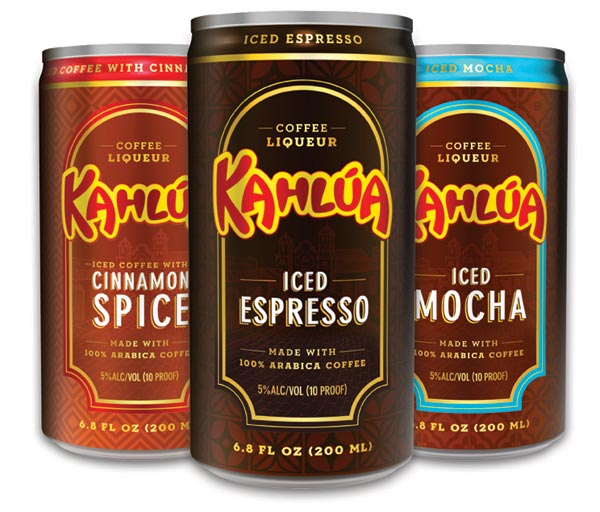 Kahlua Cans To Go Cinnamon Spice Iced espresso iced mocha