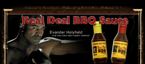 Real Deal BBQ Sauce Evander Holyfield Mike Tyson