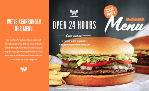 whataburger new menu design