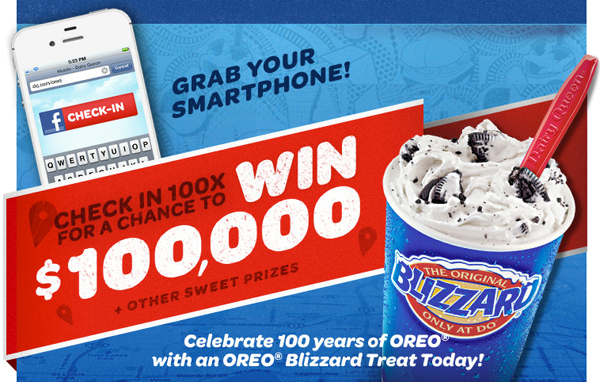 Dairy Queen Oreo Check In Contest