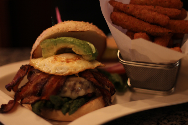 Burger Bar Buffalo Avocado Asparagus Fried Egg Jalapeno Bacon Colby Jack Cheese
