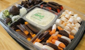 chocolate covered veggie tray