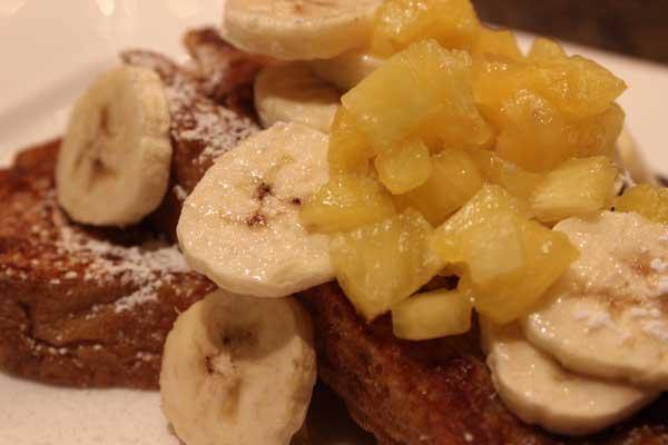 caribbean french toast canyon ranch las vegas palazzo pineapple banana rum