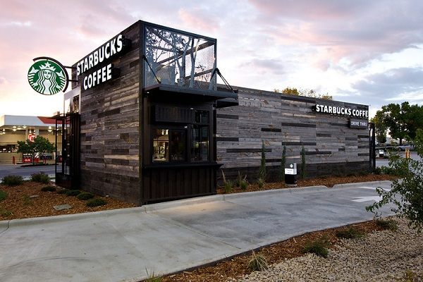 The new Eco Friendly Starbucks in Denver.
