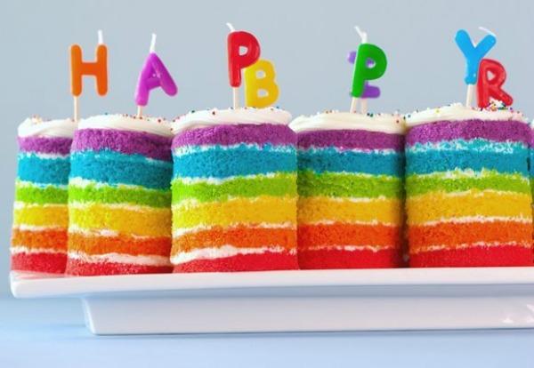 Rainbow Cake Recipe Joy Of Baking: Do Want: 6-Layer Teeny Tiny Rainbow Cakes