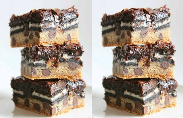 Do Want: Triple Stacked Fudge Oreo Chocolate Chip Brownie
